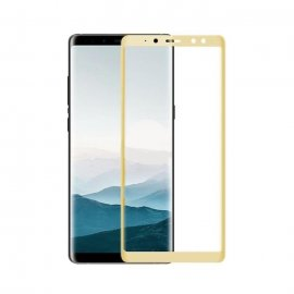 Protector Pantalla Cristal Templado Premium Samsung Galaxy A8 2018 Dorado