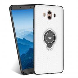 Funda Huawei Mate 10 Anillo Soporte Blanca