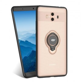Funda Huawei Mate 10 Anillo Soporte Dorada