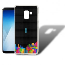 Funda Samsung Galaxy A5 2018 Gel Dibujo Tetris