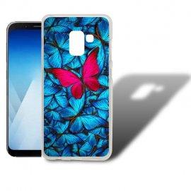 Funda Samsung Galaxy A5 2018 Gel Dibujo Mariposa.