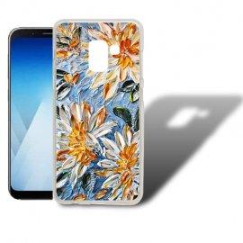 Funda Samsung Galaxy A5 2018 Gel Dibujo Flores.