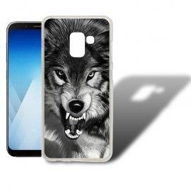 Funda Samsung Galaxy A5 2018 Gel Dibujo Lobo.