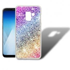 Funda Samsung Galaxy A5 2018 Gel Dibujo Glitter.