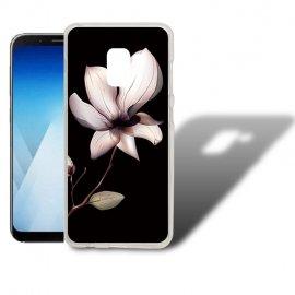 Funda Samsung Galaxy A5 2018 Gel Dibujo Flor.