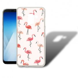 Funda Samsung Galaxy A5 2018 Gel Dibujo Flamecos