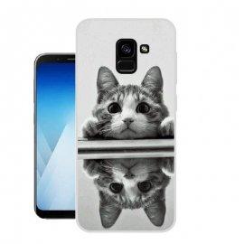 Funda Samsung Galaxy A8 2018 Gel Dibujo Gato