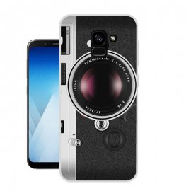 Funda Samsung Galaxy A8 2018 Gel Dibujo Camara