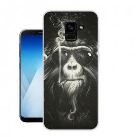 Funda Samsung Galaxy A8 2018 Gel Dibujo Mono