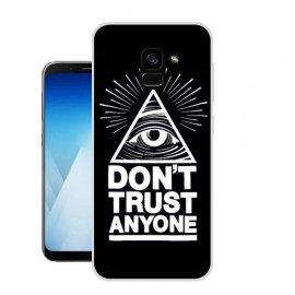Funda Samsung Galaxy A8 2018 Gel Dibujo Ojo