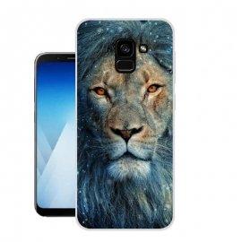 Funda Samsung Galaxy A8 2018 Gel Dibujo Leon