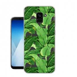Funda Samsung Galaxy A8 2018 Gel Dibujo Hojas