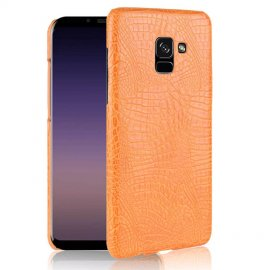 df1ec4dbb4b Carcasa Samsung Galaxy A8 2018 Cuero Estilo Croco Naranja Carcasa Samsung  Galaxy A8 2018 Cuero.