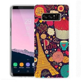 Funda Samsung Galaxy Note 8 Gel Dibujo Torre Eiffel