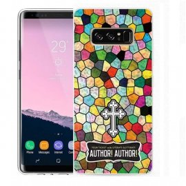 Funda Samsung Galaxy Note 8 Gel Dibujo Cruz