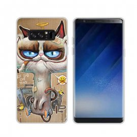 Funda Samsung Galaxy Note 8 Gel Dibujo Gato Loco