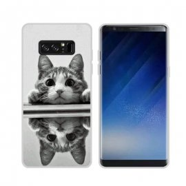 Funda Samsung Galaxy Note 8 Gel Dibujo Gatito