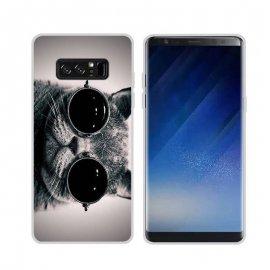 Funda Samsung Galaxy Note 8 Gel Dibujo Gato con Gafas