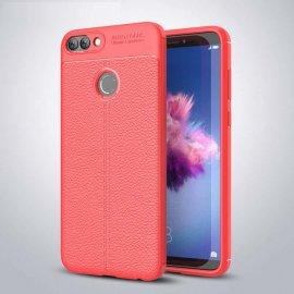 Funda Huawei P Smart Tpu Cuero 3D Roja