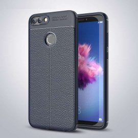 Funda Huawei P Smart Tpu Cuero 3D Azul