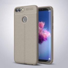Funda Huawei P Smart Tpu Cuero 3D Gris