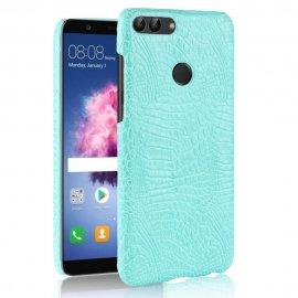 Carcasa Huawei P Smart Cuero Estilo Croco Turquesa