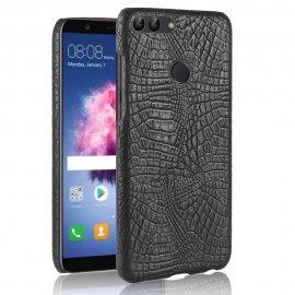 Carcasa Huawei P Smart Cuero Estilo Croco Negra