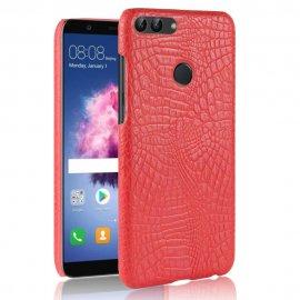 Carcasa Huawei P Smart Cuero Estilo Croco Roja