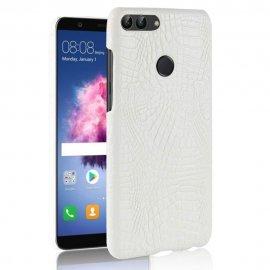 Carcasa Huawei P Smart Cuero Estilo Croco Blanca