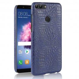 Carcasa Huawei P Smart Cuero Estilo Croco Azul