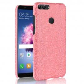 Carcasa Huawei P Smart Cuero Estilo Croco Rosa