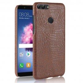 Carcasa Huawei P Smart Cuero Estilo Croco Marron