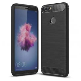 Funda Huawei P Smart Gel Hybrida Cepillada Negra
