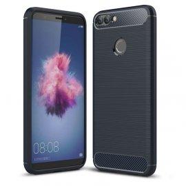Funda Huawei P Smart Gel Hybrida Cepillada Azul