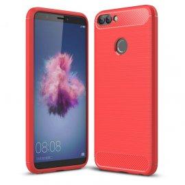 Funda Huawei P Smart Gel Hybrida Cepillada Roja