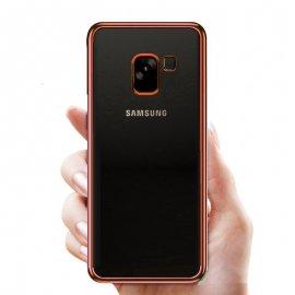 Funda Gel Samsung Galaxy A8 2018 con Borde Rosa