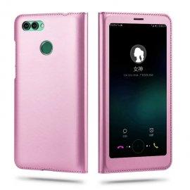 Funda Libro Huawei P Smart con Tapa y Soporte Full Rosa