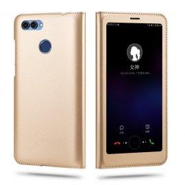 Funda Libro Huawei P Smart con Tapa y Soporte Full Dorada