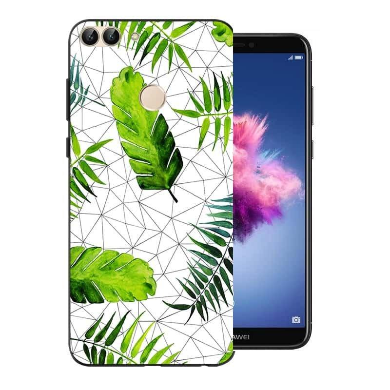Funda huawei p smart gel dibujo hojas for Coque zte blade a610 plus