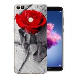Funda Huawei P Smart Gel Dibujo Rosa