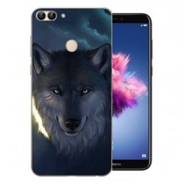 Funda Huawei P Smart Gel Dibujo Lobo