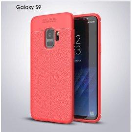 Funda Samsung Galaxy S9 Gel Cuero 3D Roja
