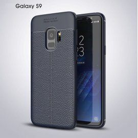 Funda Samsung Galaxy S9 Gel Cuero 3D Azul