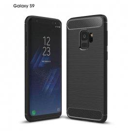Funda Samsung Galaxy S9 Gel Hybrida Cepillada Negra