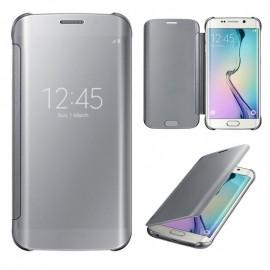 Funda Full Ventana Samsung Galaxy S6 Edge Plata