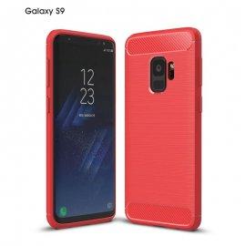 Funda Samsung Galaxy S9 Gel Hybrida Cepillada Roja