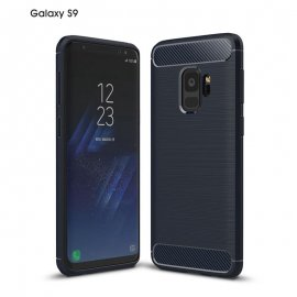 Funda Samsung Galaxy S9 Gel Hybrida Cepillada Azul