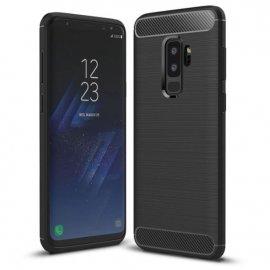 Funda Samsung Galaxy S9 Plus Gel Hybrida Cepillada Negra