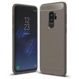 Funda Samsung Galaxy S9 Plus Gel Hybrida Cepillada Gris