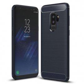 Funda Samsung Galaxy S9 Plus Gel Hybrida Cepillada Azul